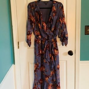 LUXOLOGY Size 10 NWT purple/orange floral dress